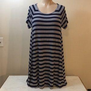Blue Oversized vintage 90s Grunge Style Dress Boho